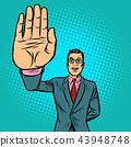 man stop hand gesture 43948748