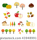 Autumn leaves and crops | Illustration set 43948991