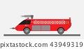 Airport Fire Truck Vector 43949319