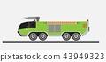 Airport Fire Truck Vector 43949323