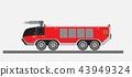 Airport Fire Truck Vector 43949324