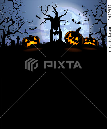 Halloween silhouette background 43949917