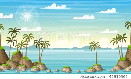 Tropical Coastal Summer Landscape 43950365