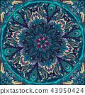 vector seamless mandala 43950424