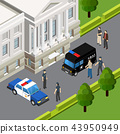 Law Justice Isometric Composition 43950949