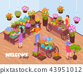 Isometric Florists Shop Composition 43951012