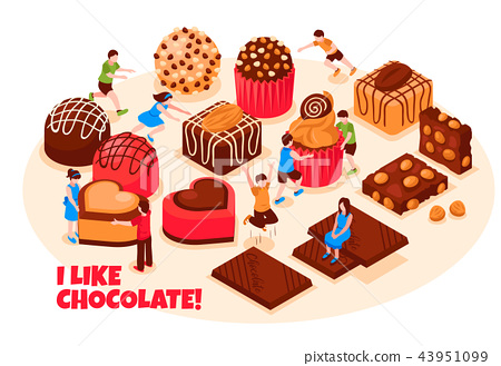 Chocolate Products Vector Illustration 43951099