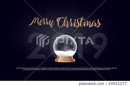 Christmas Typographical on shiny background  43952277