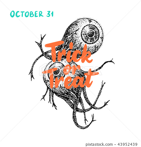 Trick or Treat Eye Greeting Card 43952439