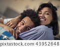 Cropped shot of a young african american couple watching television at home 43952648