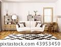 3d interior living 43953450