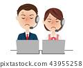 男性和女性運營商 43955258
