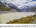 Glacier lake Mount Cook National Park New Zealand 43955376
