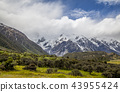 Mountains in Mount Cook National Park New Zealand 43955424