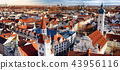 Munich center panoramic cityscape view 43956116