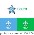 starfish logo. Unique star and seafood logotype design template. 43957274