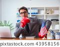 american, flag, businessman 43958156