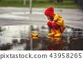 girl, child, puddle 43958265