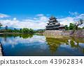 松本城 城堡 城堡塔樓 43962834
