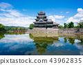 松本城 城堡 城堡塔樓 43962835