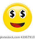 American dollar smiley emoticon. 43967910