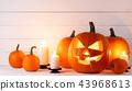 halloween, pumpkin, candle 43968613