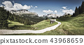 Vintage landscape of Dolomites in summer season 43968659
