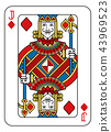 Playing Card Jack Diamonds Yellow Red Blue Black 43969523