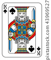 Playing Card King of Spades Yellow Red Blue Black 43969527