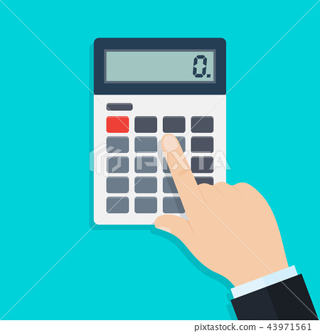 Hand with calculator 43971561