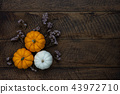 Table top view  of decoration Thanksgiving day. 43972710