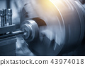 The  operation of lathe machine 43974018