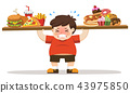 The Boy unhealthy body from eating junk food. 43975850
