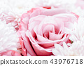 Pink Roses and Daisy Flowers Wedding Bouquet 43976718