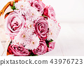 Pink Roses and Daisy Flowers Wedding Bouquet 43976723