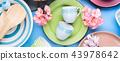 tableware, dish, blue 43978642