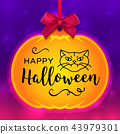 halloween pumpkin greeting 43979301