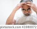 수석 두통 아픈 발열 감기 노인 열 43980072