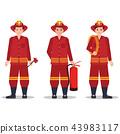 fire fireman background 43983117