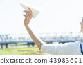 พับเครื่องบินกระดาษ,มือ,ศิลปะพับกระดาษ โอริกามิ 43983691