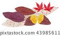 Grilled sweet potato (momiji) 43985611