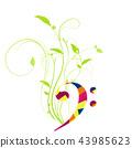 staff notation, music, musical 43985623