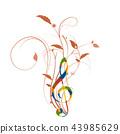 staff notation, music, musical 43985629