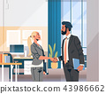 business couple handshake agreement concept businessman woman hand shake partnership communication 43986662