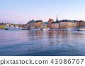 Twilight in Stockholm city skyline in Sweden 43986767