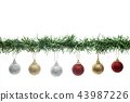 christmas decorations on a white background 43987226