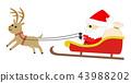 sleigh, reindeer, reindeers 43988202