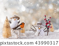 Christmas decoration with blurred background 43990317