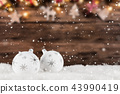 Christmas decoration with blurred background 43990419