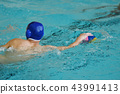 The boys play in water polo 43991413